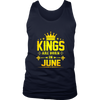 Kings Are Born In June Birthday Shirt