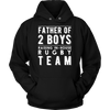 Mens Father of 2 Boys Shirt | Rugby Son on Daddy Team T Shirt
