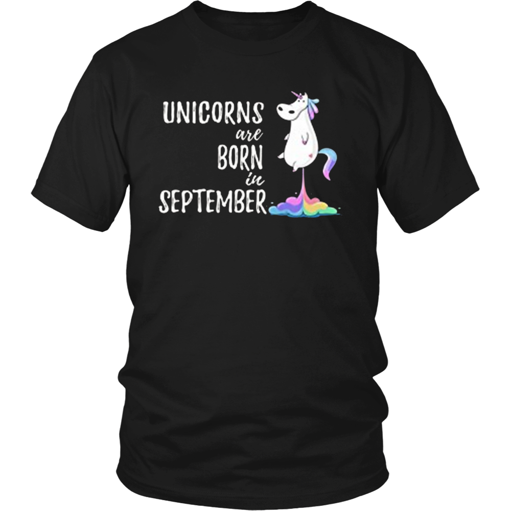 Unicorns Are Born In September Birthday Tshirt Hoodie