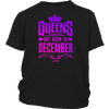 Women's Queens are born in December funny T-shirt