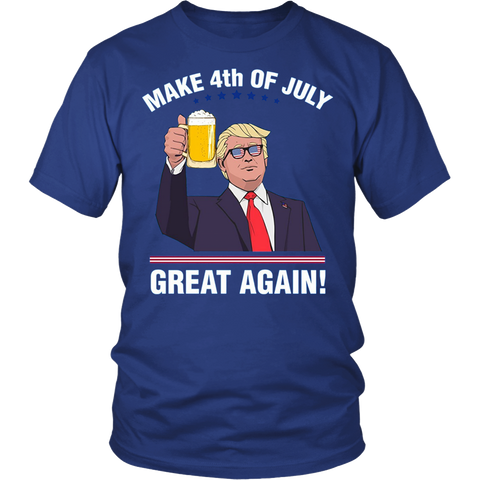 Trump :Make 4th of July Great Again T-shirt