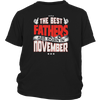 Mens The Best Fathers are born in November shirt