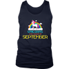 Unicorns Are Born In September Rainbow Artistic Cool T-Shirt