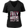 Real Queens Are Born On July 24 T-shirt 24th Birthday Gifts
