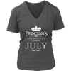 PRINCESSES ARE BORN IN JULY-BIRTHDAY GIFT (WHITE 2) T-SHIRT