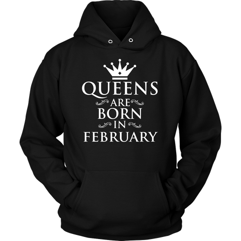 Queens Are Born In February Shirt. Birthday Gift For Women.