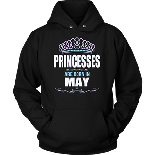 Women's Princesses Are Born In May - Birthday T-Shirt