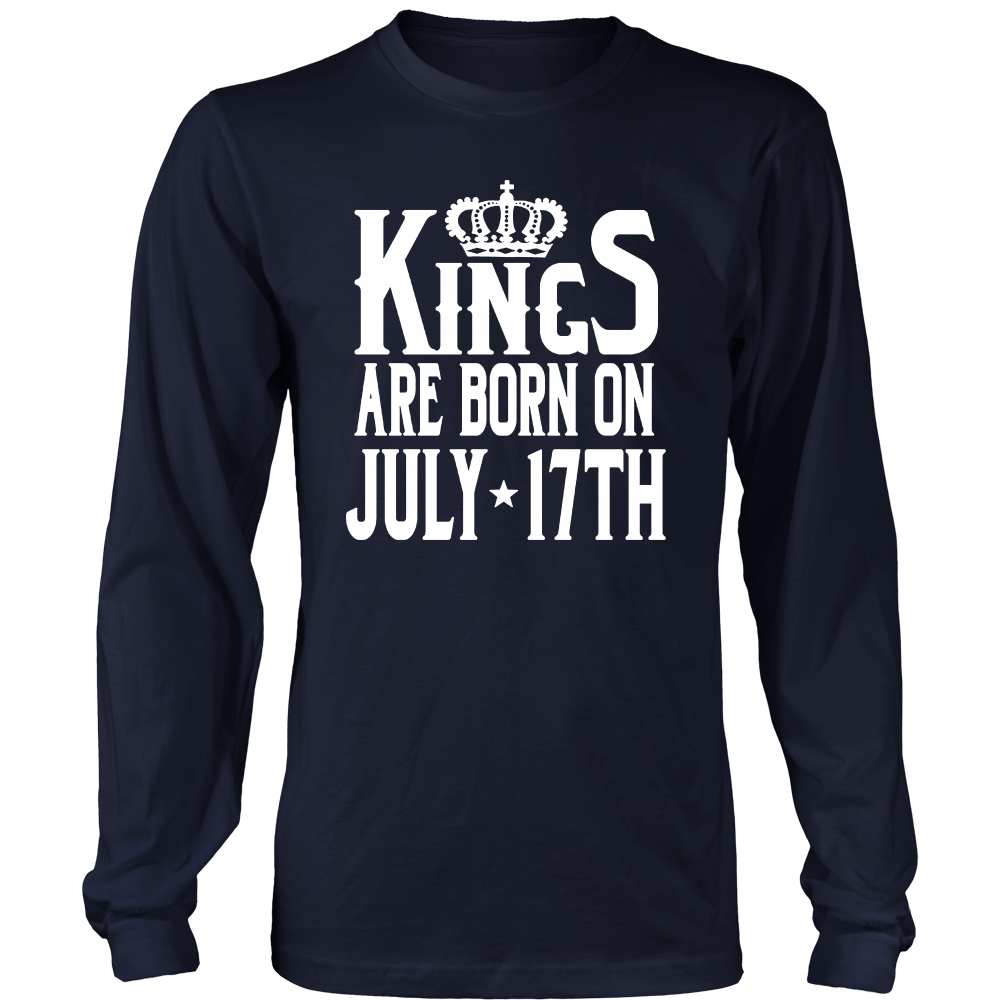 Kings Are Born On July 17th Funny Birthday T-Shirt