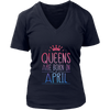 APRIL QUEENS ARE BORN IN APRIL MONTH SHIRT