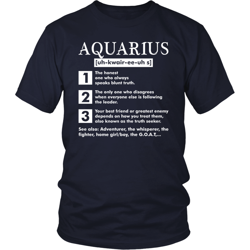 Awesome Aquarius T-Shirt Born In February Pride