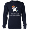 Unicorns Are Born In November T-Shirt