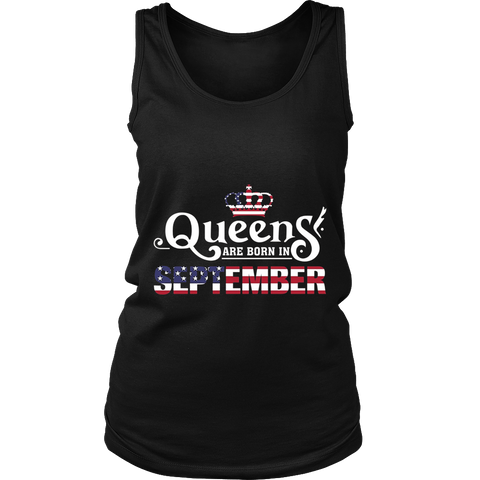 Womens Queens Are Born In September Gifts T-Shirt