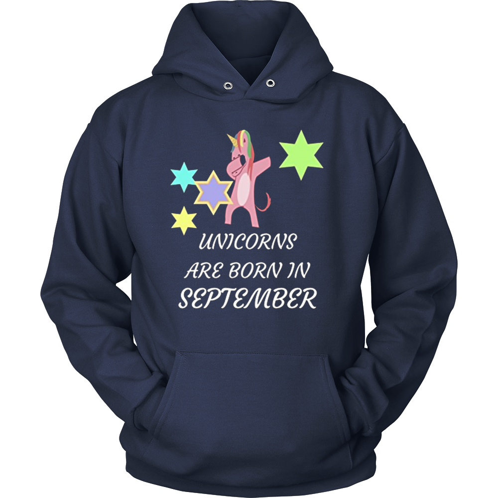 Unicorns are born in September Funny Unicorn Dabbing T-Shirt