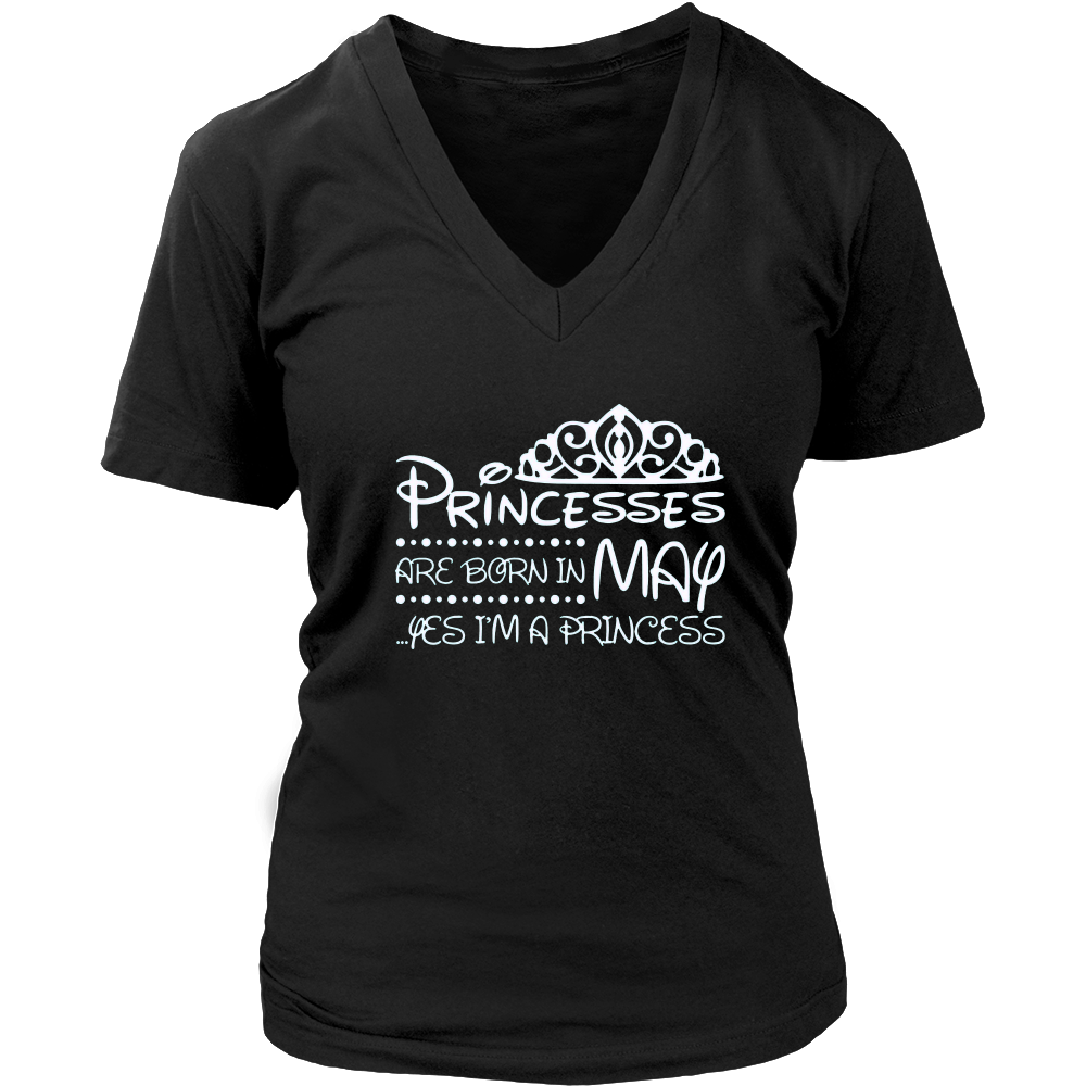 Princesses Are Born In May T-shirt Girls in May