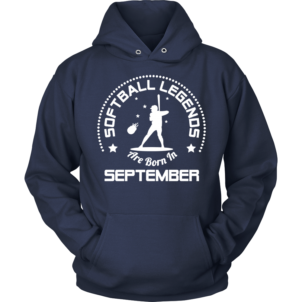 Funny T Shirt Softball Legends Are Born In September
