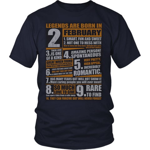 Legends Born In February T-Shirt Aquarius Pride