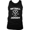 Softball Legends are Born in January Birthday Shirt