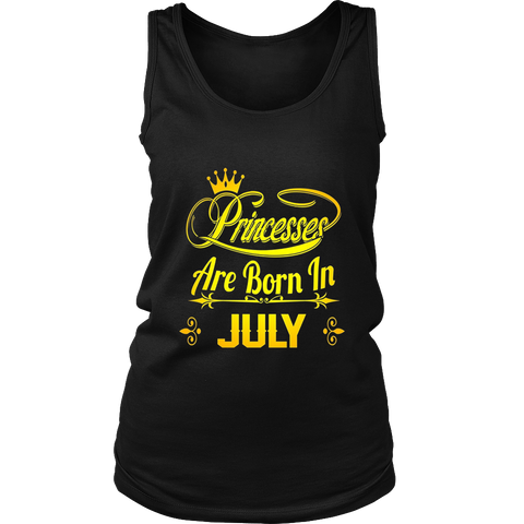 Princesses Are Born In July shirt