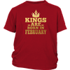 Kings Are Born In February Shirt, Birthday In February T Shi