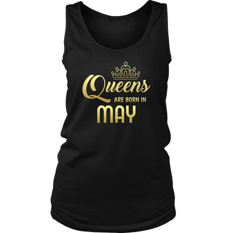 Queens Are Born In May Birthday shirt