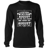 Legends Are Born On August 02 T Shirt August Birthday Gifts