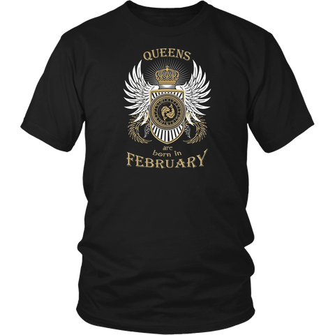 Queens Are Born in February Pisces T-Shirt