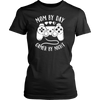 mom by day gamer by night gaming mum mothers tshirt