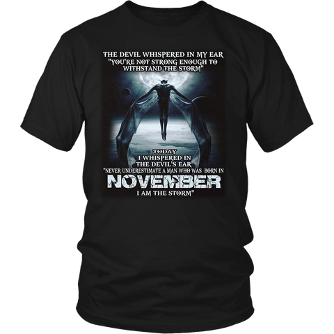 The Devil - born in November - the storm - T-shirt month