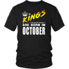 King are born in October Tshirt Birthday gift shirt