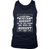 Legends Are Born On August 06 T Shirt August Birthday Gifts