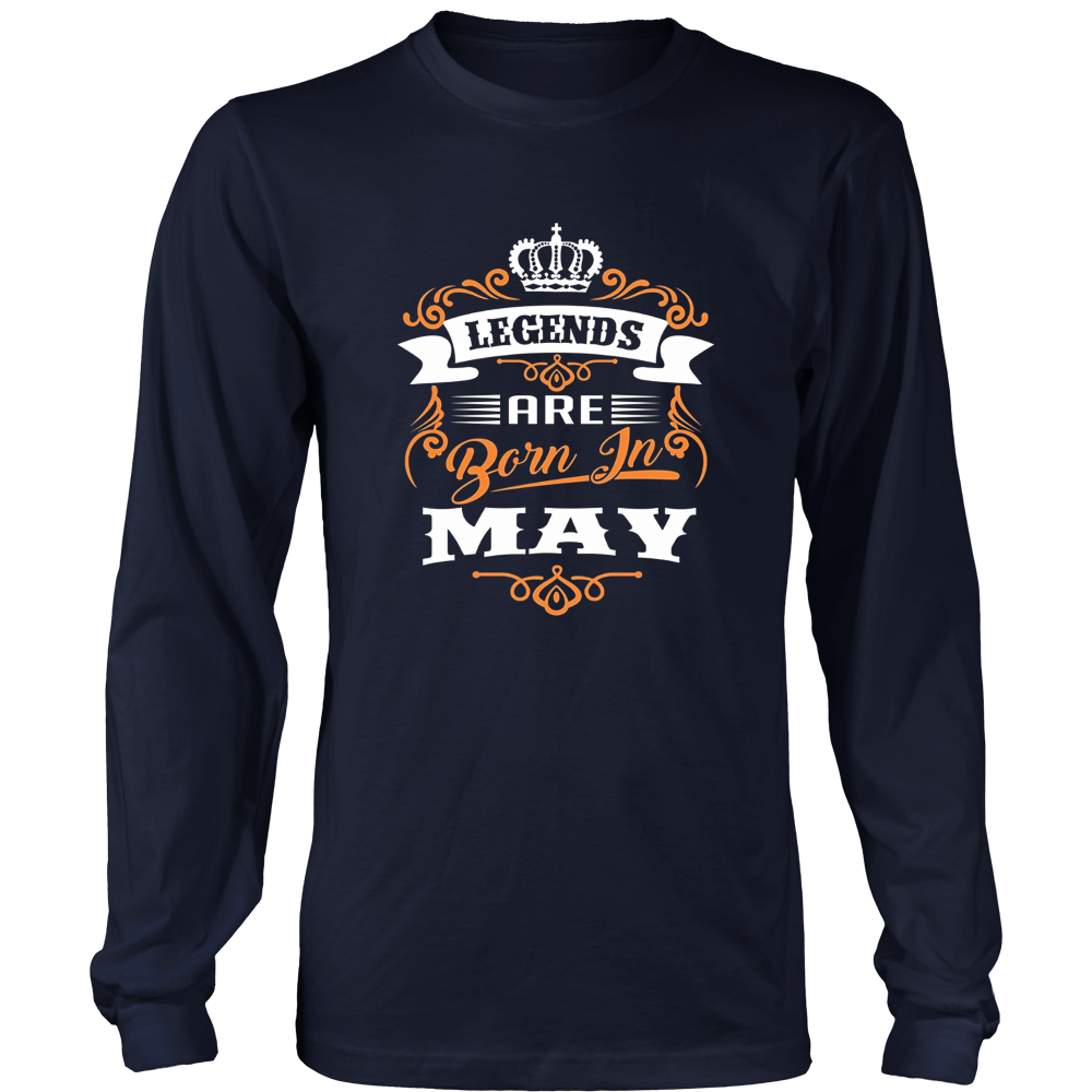 Legends Are Born In May T-shirt, Grunge Effect Gift