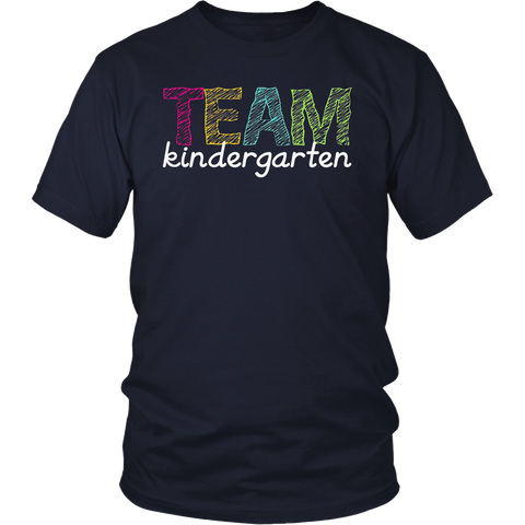 Team Kindergarten Grade Teacher T-Shirt Back To School