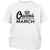 Queens Are Born In March Top T Shirt