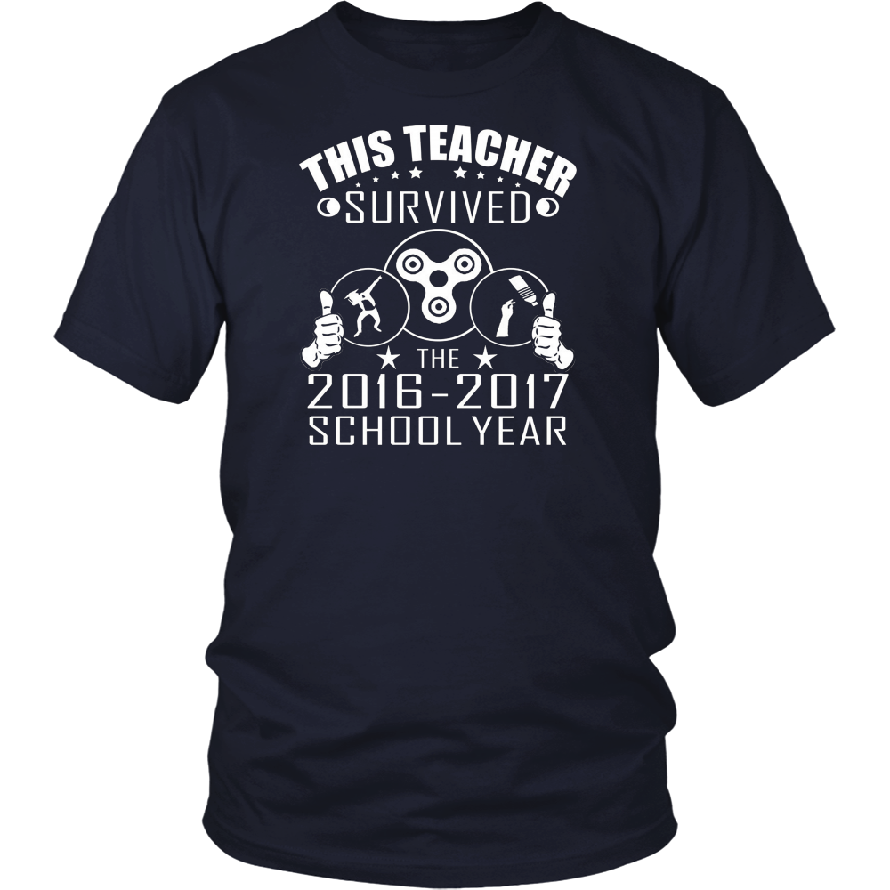FUNNY THIS TEACHER SURVIVED THE 2016-2017 SCHOOL YEAR TSHIRT