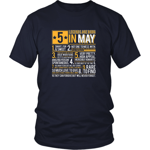 Funny T-Shirt Fishing Legends Are Born In May