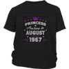 Princess Born in August Birthday Girl Shirt