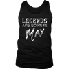 LEGENDS Are Born In May T-shirt, White T-Shirt