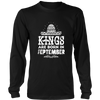 Mens Kings are Born in SEPTEMBER Mexico Birthday White C2 T-shirt