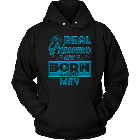 REAL Princesses are born in May 2007 Birthday Gift T Shirt