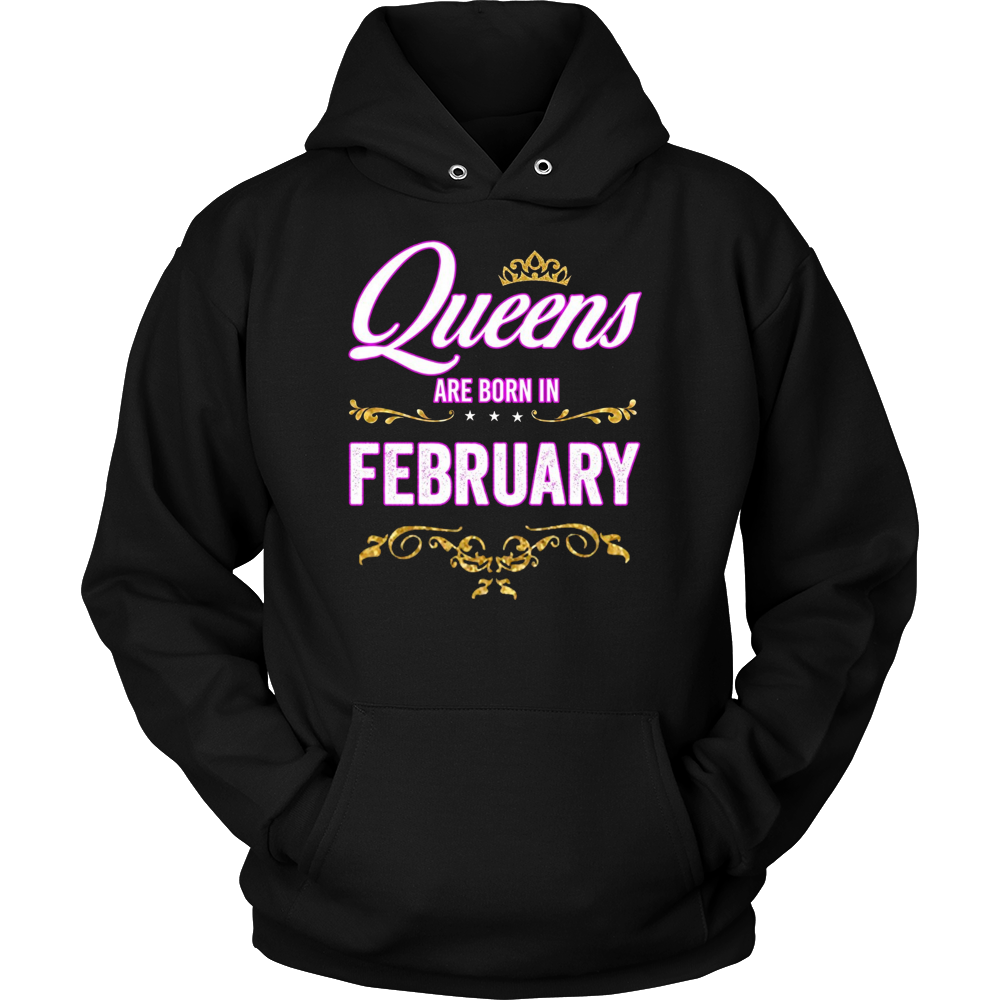 Queens Are Born In February Birthday Gift T-Shirt
