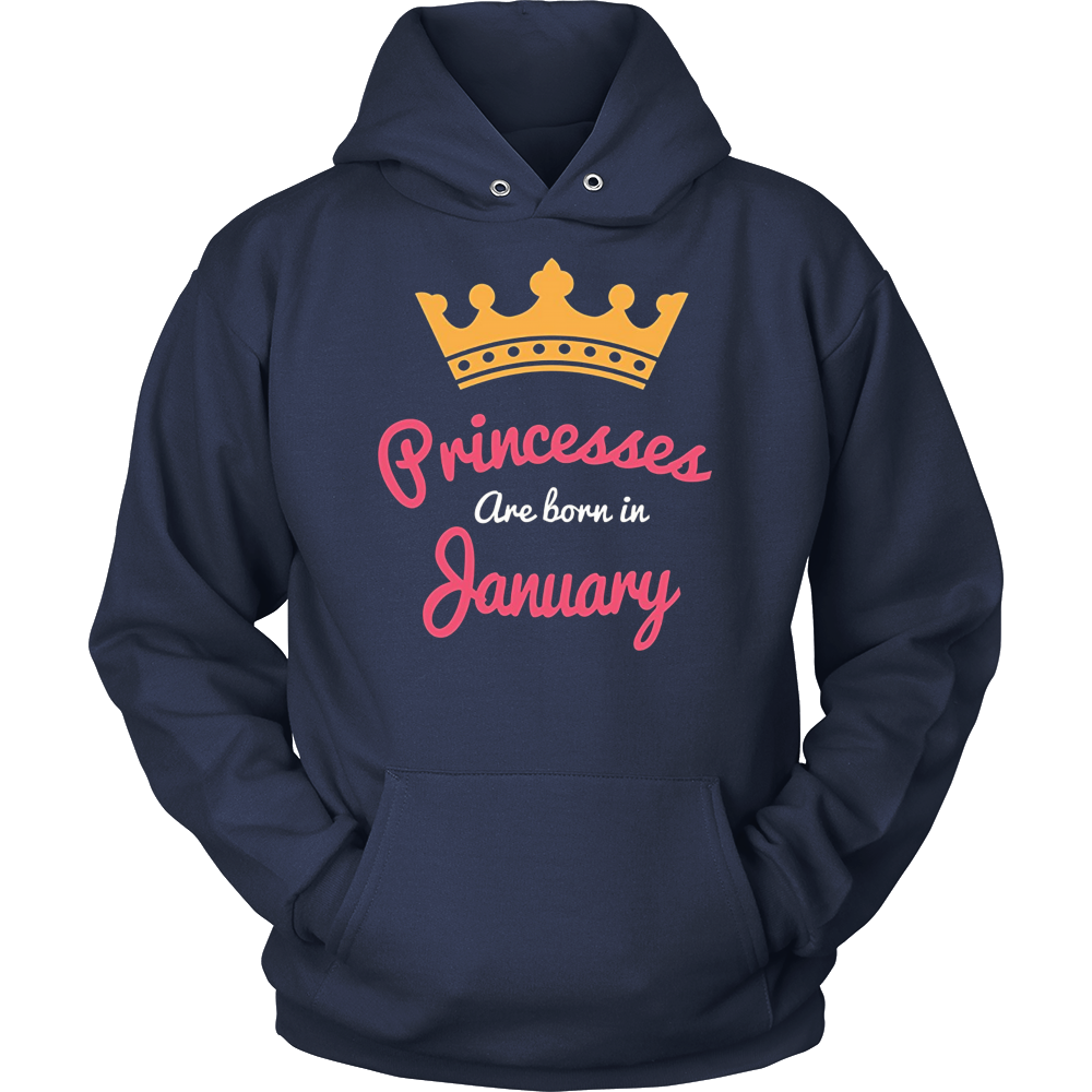 Princesses Are Born In January - Funny T-Shirt