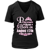 Princesses Are Born On August 17th Funny Birthday T-Shirt