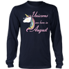 unicorn born in August Tees Shirt Gifts
