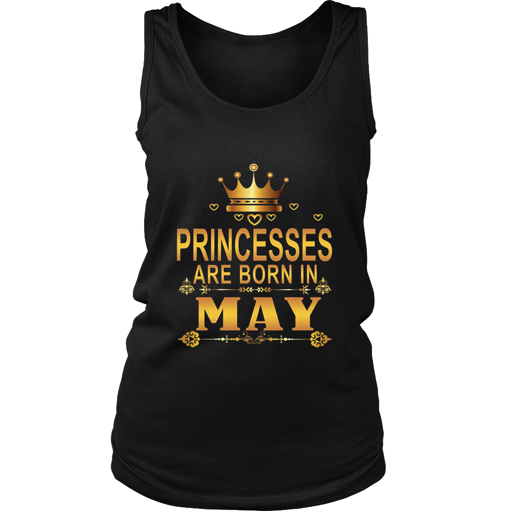 PRINCESSES ARE BORN IN MAY Birthday Tee T-Shirt gift