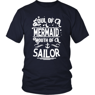 Womens soul of a mermaid mouth of a sailor T shirt