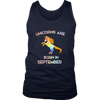 Unicorns Are Born In September T-Shirt Gifts