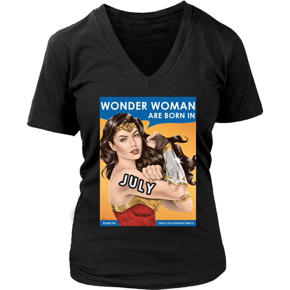 Wonder woman are born in july T-Shirt