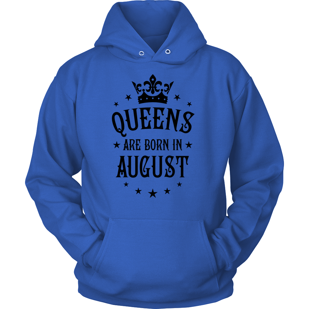 Queens are born in August Crown Woman T-Shirt Hoodie