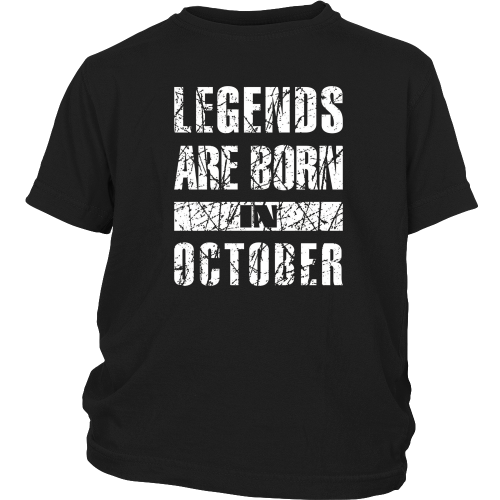 Legends Are Born In October Birthday Gift T Shirt Vintage T
