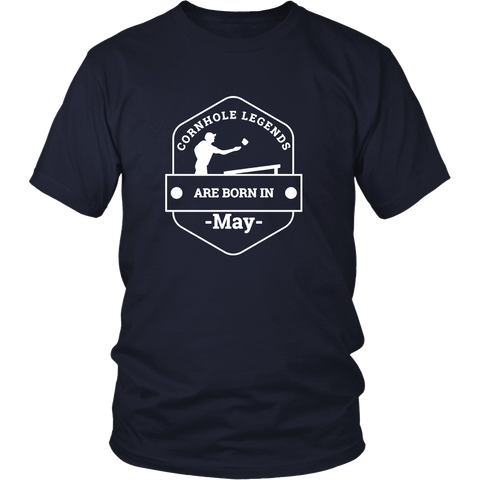 Cornhole Legends Are Born In May T-Shirt